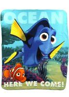 """Disney Pixar Finding Dory Blanket 50"""" x 60"""" Fleece Throw Nemo"""