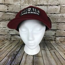 On Air With Ryan Seacrest Maroon Embroidered Adjustable Fitted Baseball Cap Hat