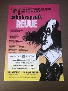 SHAKESPEARE REVUE 1999 Flyer Theatre Royal Newcastle Malcolm McKee