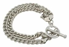 Zest Double Chain T Bar Bracelet Silver