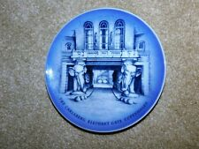 "ROYAL COPENHAGEN PORCELAIN PLATE ""THE CARLSBERG ELEPHANT GATE COPENHAGEN"" 1980's"