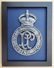 Large Scale Framed PALESTINE POLICE FORCE Badge Plaque