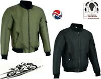 MENS WATERPROOF BREATHABLE SPEED MAXX TEXTILE MOTORBIKE MOTORCYCLE BOMBER JACKET