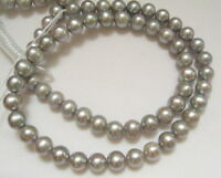 8PE01725 8-9mm Grey Round Pearl Beads