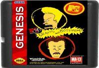 Beavis And Butt-Head (1994) 16 Bit Game Card Sega Genesis / Mega Drive System