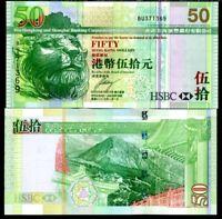 HONG KONG 50 DOLLARS 2006 P 208 UNC