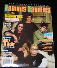 2002 Famous Families OZZY OSBOURNE Liv & Steven Tyler (N-MINT COPY)