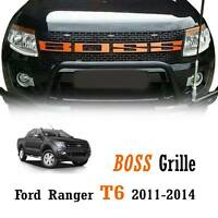 Orange Front Boss Grille Grill 3 Leds Light Fit Ford Ranger T6 XLT PX 2011-2014