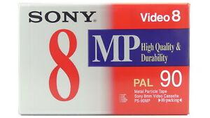 SONY MP 90min (8mm) Video8 Camcorder Video Kassette Tape (P5-90MPD) NEU 000-218