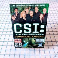 CSI: Crime Scene Investigation - 3 Dimensions of Murder PC CD-ROM Video Game