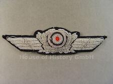 54808 Luftwaffe: Schirmmützenschwinge für Offiziers Schirmmütze, handgestickt