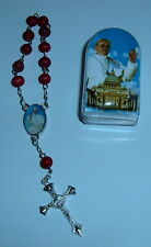 2 - TWO -POPE FRANCIS One Decade Rosaries /w Cases Wood Bead NEW
