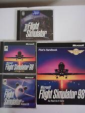 Microsoft Flight Simulator Lot 95 98 Windows PC MS DOS CD-ROM + Pilots Handbook
