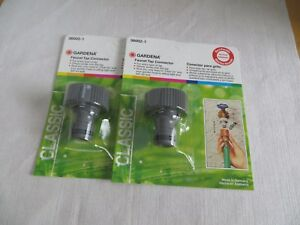 GARDENA Faucet Tap Quick Connector (Set of 2)  36002 Made In  Germany
