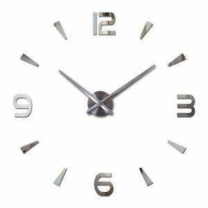 New Wall Clock Quartz Watch Pared Modern Design Large Decorative Clocks Acrylic