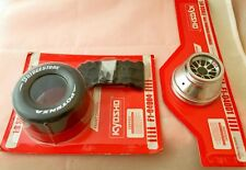 KYOSHO FERRARI F 2004 CAR TIRE RIM  AND OTHERS PARTS 1/8 SCALE NEW AND SEALED