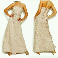 $199 IGNITE EVENINGS BY CAROL LIN Pink Soutache Embellish Strapless Gown 8 M3020