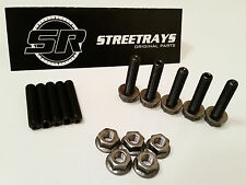 StreetRays Honda Acura Header Exhaust Stud Studs Bolt Kit B D H F (Black Alloy)