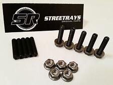 StreetRays Honda Acura Header Exhaust Stud Studs Bolt Kit B D H F (Black Alloy)