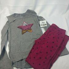 My Destiny Girls' 2-Piece Legging Pant Set, Grey Star, Size 14/16 cold shoulder
