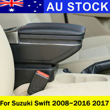 AU Leather Car Center Console Armrest Storage Box For Suzuki Swift 2008-2017