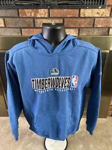 Vintage Reebok Minnesota Timberwolves NBA Basketball Hooded Sweatshirt Small