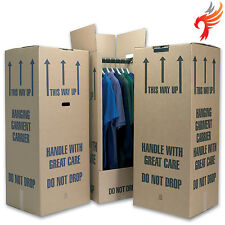 10 Tall Wardrobe Boxes / Garment Carriers Strong D/w Cardboard Removal Fast Del
