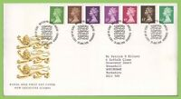 G.B. 1996 seven definitives Royal Mail First Day Cover, Bureau