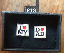 BNIP New I Love ❤ My Dad Cufflinks from Next - Father's Day / Gift for New Dad
