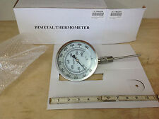 """Grainger Industrial Grade SS 1NGD4 Bimetal Thermometer 5"""" Dial 50 to 550F. NEW"""