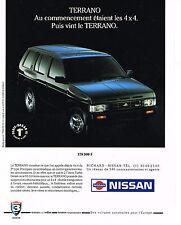 PUBLICITE ADVERTISING  1991   NISSAN  TERRANO 4X4