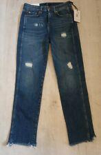 Womens Designer  Erin High Waist Crop Straight Jeans Bnwt Rrp £100 Size Uk W27