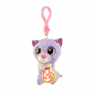 TY Beanie Boos - CASSIDY the Speckled Cat (Glitter Eyes)(Key Clip -3 inch) MWMTs