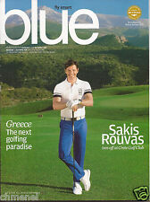 "GREECE AEGEAN AIRLINES ""BLUE"" SEP-OCT 2015 IN FLIGHT MAGAZINE MINT-SAKIS ROUVAS"