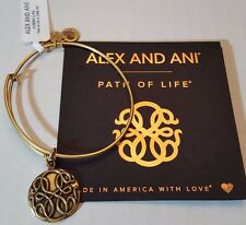 Alex and Ani PATH OF LIFE III  Russian GOLD Charm Bangle New W/Tag Card