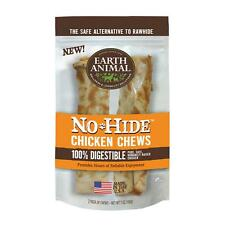 "EARTH ANIMAL DOG NO HIDE CHICKEN 7"" LARGE  2in a PACK"