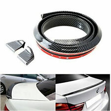 DIY 1500*45mm Universal Fit Rear Top 3D Cabon Fiber Trunk Spoiler Boot Lip Wing