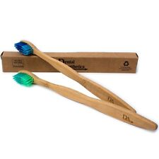Bamboo Toothbrush ~ Adult Medium/Soft Bristles Eco Biodegradable Colour 2 or 8