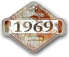 Aged Rusty Rust Patina Year Dated 1969 VINTAGE EDITION Cafe Racer Car Sticker