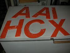 Lettres d'enseigne orange vintage 70's à l'unité plusieurs lettres dispos H 25cm