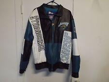 PRO PLAYER JACKSONVILLE JAGUARS Leather Quilted Lined Jackets EUC Sz M
