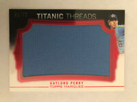 2011 Topps Marquee Titanic Threads Jumbo Relics Red #43/75 Gaylord Perry HOF