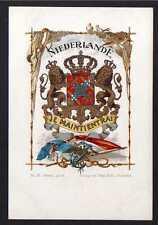 76613 AK Niederlande Je Maintiendrai Wappen Fahne Flagge um 1900