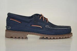 Timberland Authentics Classic 3-Eye Lug Boat Shoes Men Lace Up