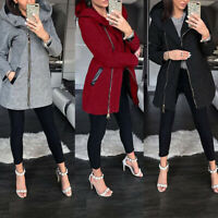 Women Warm Slim Jacket Thick Parka Overcoat Winter Outwear Hooded Zipper Coat