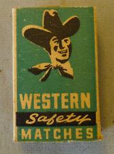 Original Antique Western Canada Matches Empty Miniature Advertising Match Box