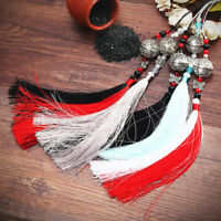 Retro Vintage Chinese Tassel Ornament Hanging Pendant With Bell Home Decoration