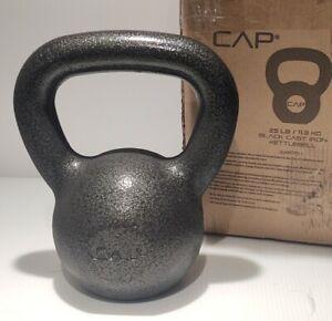 New CAP 25 LB/11.3 KG Black Cast Iron Kettlebell Build Strength Exercise Muscles