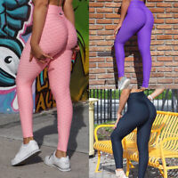 Women's Workout Yoga Pants Push Up High Waist Leggings Butt Lift Gym Trousers