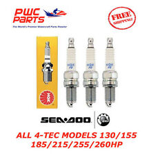 SEADOO 4-TEC NGK DCPR8E Spark Plugs RXP-X RXT-X 130 215 255 260 GTI GTX SET OF 3